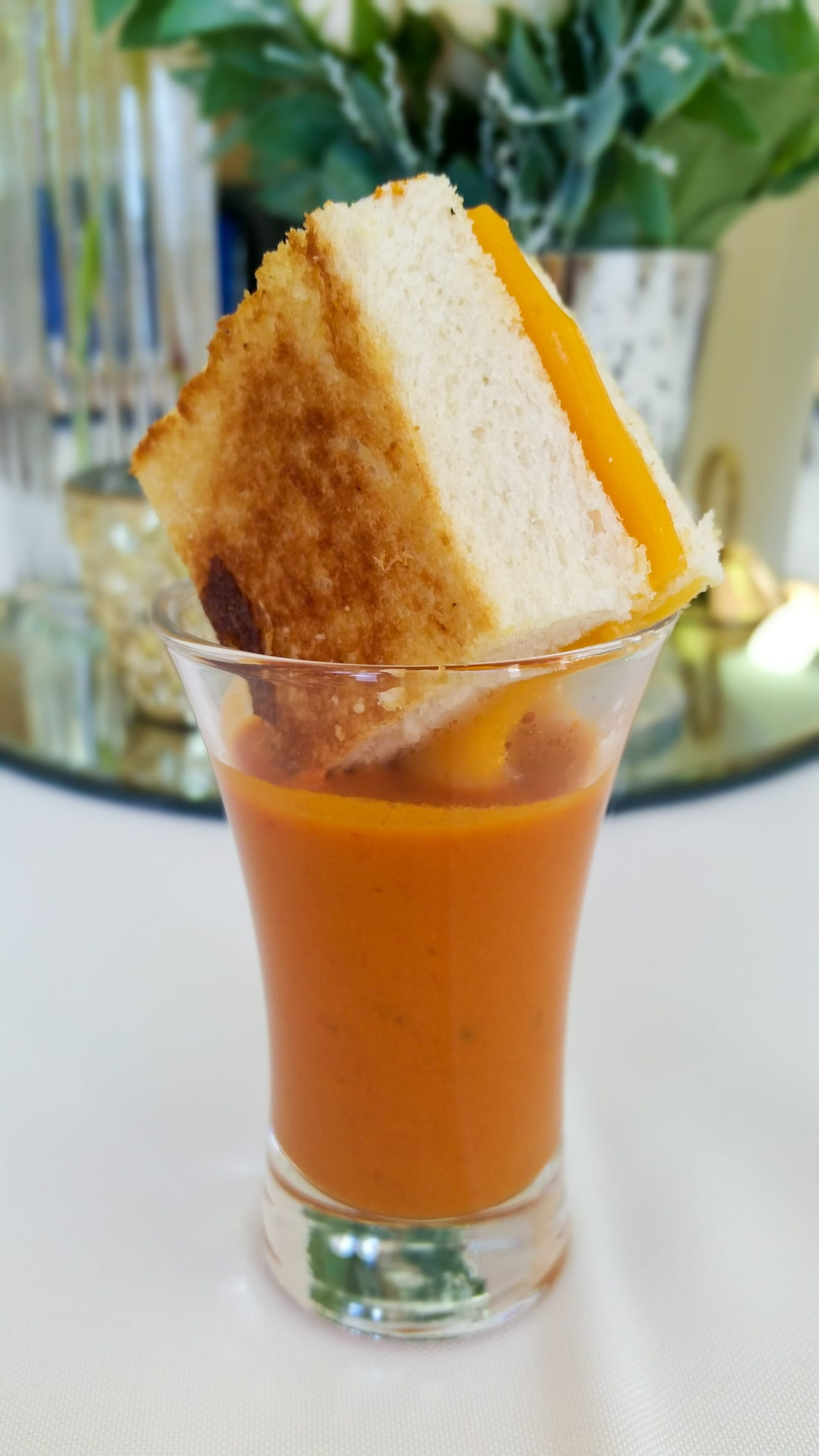 Grilled Cheese and Tomato Soup Shot